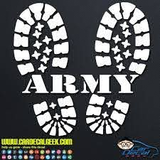 Army Combat Boots Decal Army Combat Boots Military Gifts Military