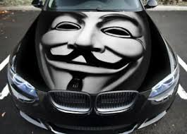 Anonymous Car Hood Wrap Full Color Vinyl Sticker Decal Fit Any Car Ebay