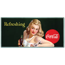 Coca Cola Girl With Sunglasses Refreshing Wall Decal 24 X 12 Bathing Beauty Ebay