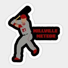 Mike Trout Millville Meteor La Angels Sticker Teepublic Uk