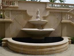 beige marble garden sculptured