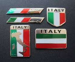 Amazon Com 5pcs Italy Flag Decal Sticker Emblem Made From Aluminum Alloy Perfect For Any Vehicle Truck Car Motorcycle Rv Scooter Suv Door Window Automotive