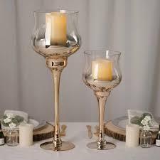 glass goblet candle holder