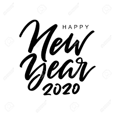 happy new year handwritten inscription hand lettered quote