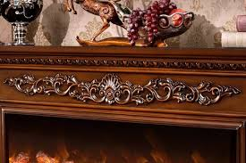 cherry wood electric fireplace factory
