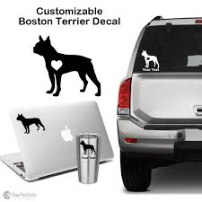 Personalized Boston Terrier Decal Top Pet Gifts