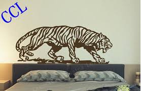 Free Shipping Large Size Animal Wild Tiger Wall Decal Sticker Living Room Decor Tiger Pattern Wall Stickers Vinyl Art Mural Mural Stencils Vinyl Adhesivevinyl Clothes Aliexpress