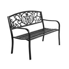 cast iron garden bench chair seat
