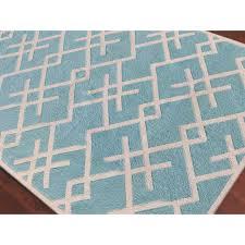 Zara Patterned Aqua Flat Weave Rug 3 X5 Chairish
