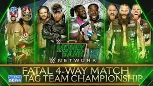 WWE NOW Reveals Fatal-4-Way Championship Match For WWE Money In ...