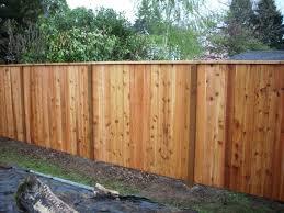 Cedar Fence With A Cedar 2x4 Cap Cedar Fence Cedar Fence Boards Cedar Posts