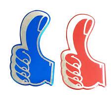 Thumbs Up Social Media Car Window Decal Victory Ok Hand Gesture Success Decor Vinyl Decal Car Sticker Decals Stickers Aliexpress