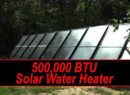 solar water heater build solar water
