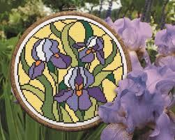cross stitch digital pattern a bouquet