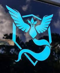 Team Mystic Pokemon Window Sticker Stick Emall Vinyl Decals