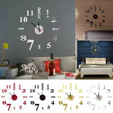 Red 1 Keerads Modern Diy Large Wall Clock Big Watch Decal 3d Stickers For Sale Online Ebay