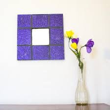 purple wall mirror stained glass mosaic