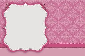 Damascos Rosa Invitaciones Para Imprimir Gratis Invitaciones