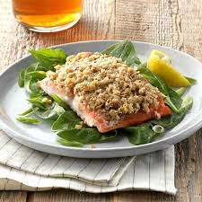 Walnut and Oat-Crusted Salmon Recipe ...