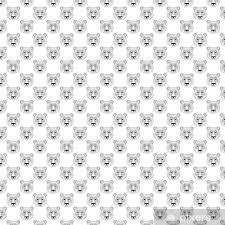 head panda seamless pattern in