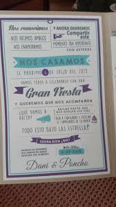 Por Fin Nuestras Invitaciones 5 Texto Invitaciones De Boda