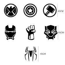 2pcs Car Sticker Film Shield Iron Spider Man Thor Hulk Black Panther For Audi Ford Toyota Jeep Suv Universal Car Accessories Car Stickers Aliexpress