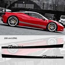 Ferrari Car Side Stripes Decals Set