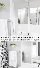 frame a mirror with clips how to glue