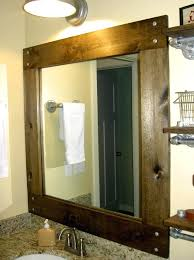 wood framed bathroom mirrors what large