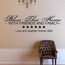 Bless This Home With Friends And Family Vinyl Wall Decal Wall Quote Wall Decor