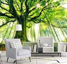 Giant Tree Forest Wall Art Mural Home Decor Sticker Decal Paper Deco Sunrise L22 Ebay