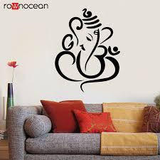 Ganesha Elephant Wall Decal Indian Design Vinyl Stickers Lord Of Success Home Interior Design Art Murals Bedroom Decor Yd10 Wall Stickers Aliexpress