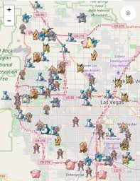 Pokemon Go Las Vegas Map