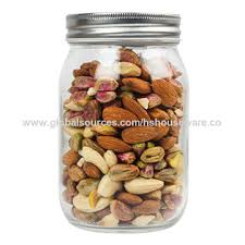 china glass food jar with sealed lid