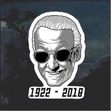 Stan Lee Rip Window Decal Sticker 1922 2018 Stan Lee Window Decals Stickers