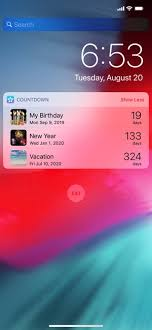 countdown star on the app