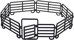Amazon Com Big Country Toys 7 Piece Corral Fence Panel Set 1 20 Scale Farm Toys Toy Fence Panels Toy Figure Playsets Sports Outdoors