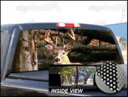P230 Deer Hunting Rear Window Tint Graphic Decal Wrap Back Pickup Graphics Ebay