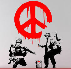 Banksy Cnd Soldiers Peace Wall Sticker Sign Art Stunning Wall Tattoo Decal Decor Ebay