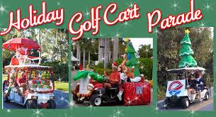 holiday golf cart parade this saay