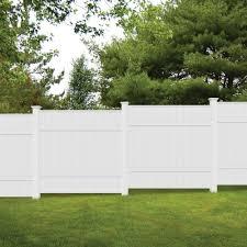 Veranda 6 Ft H X 6 Ft W White Vinyl Windham Fence Panel 73014216 The Home Depot Modern Design In 2020 Backyard Fence Decor White Garden Fence Fence Design