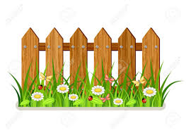 Wooden Fence With Grass And Flowers Royalty Free Cliparts Vectors And Stock Illustration Image 52476366