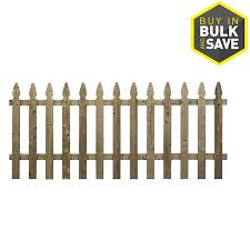 Wood Fencing Spaced Picket French Gothic 42 X 8 Pressure Treated At Lowes Com
