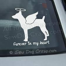 Furever Rat Terrier Decal Sew Dog Crazy