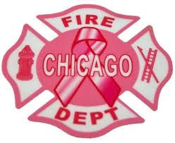 Pink Chicago Fire Dept Breast Cancer Awareness Window Decal Chicago Fire And Cop Shop