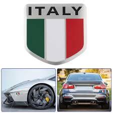 New Italian Flag Pattern Shield Shape Tricolor Flag Car Stickers Decal Car Window Door Car Decoration Car Stickers Aliexpress