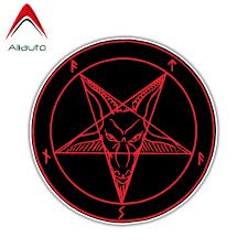 Aliauto Funny Satan Devil Demon Evil Hell Car Sticker Reflective Decal For Hyundai Accent I30 I35 Santa Fe Solaris 10cm 10cm Car Stickers Aliexpress