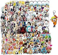 Amazon Com Anime Stickers Pack 200pcs With 1 Theme Keychain Decal For Laptop Water Bottle Bike Car Motorcycle Bumper Luggage Skateboard Graffiti Arts Crafts Sewing
