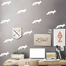 Diy Little Fox Kids Baby Rooms Decoration Wall Sticker Animal Wall Decals Bedroom Living Room Home Decor Ceiling Stickers Poster Decorative Ceiling Wall Sticker Animalwall Decals Aliexpress