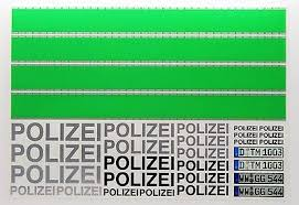 Rc Polizei German Police Style Decals Stickers Green Stripes Police Car Drift Adhesives Paints Finishing Toys Hobbies Carlassweets Com